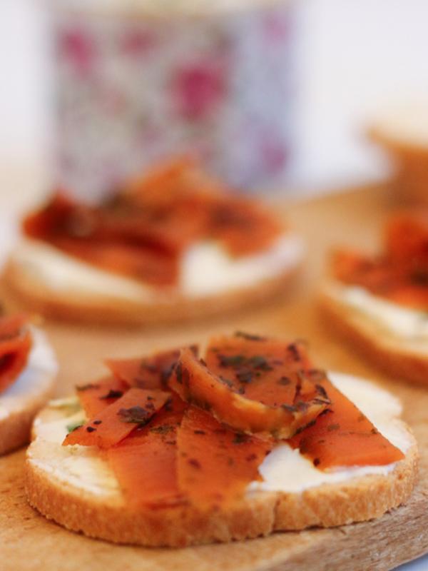 « Saumon fumé » de carottes – Rose Citron
