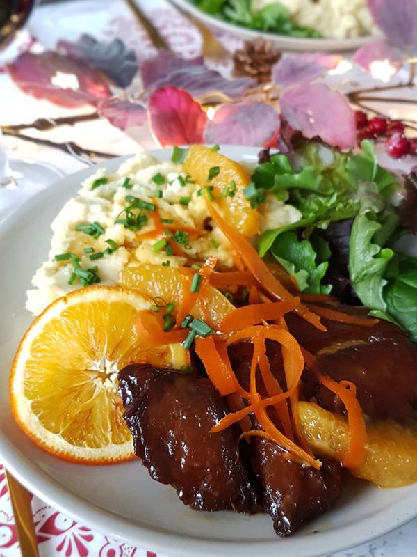 Seitan à l'orange – La cuisine d'Anna et Olivia