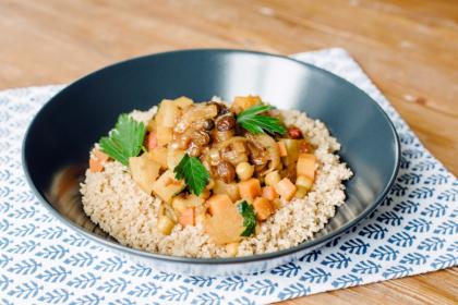 Couscous aux légumes d'hiver et tfaya