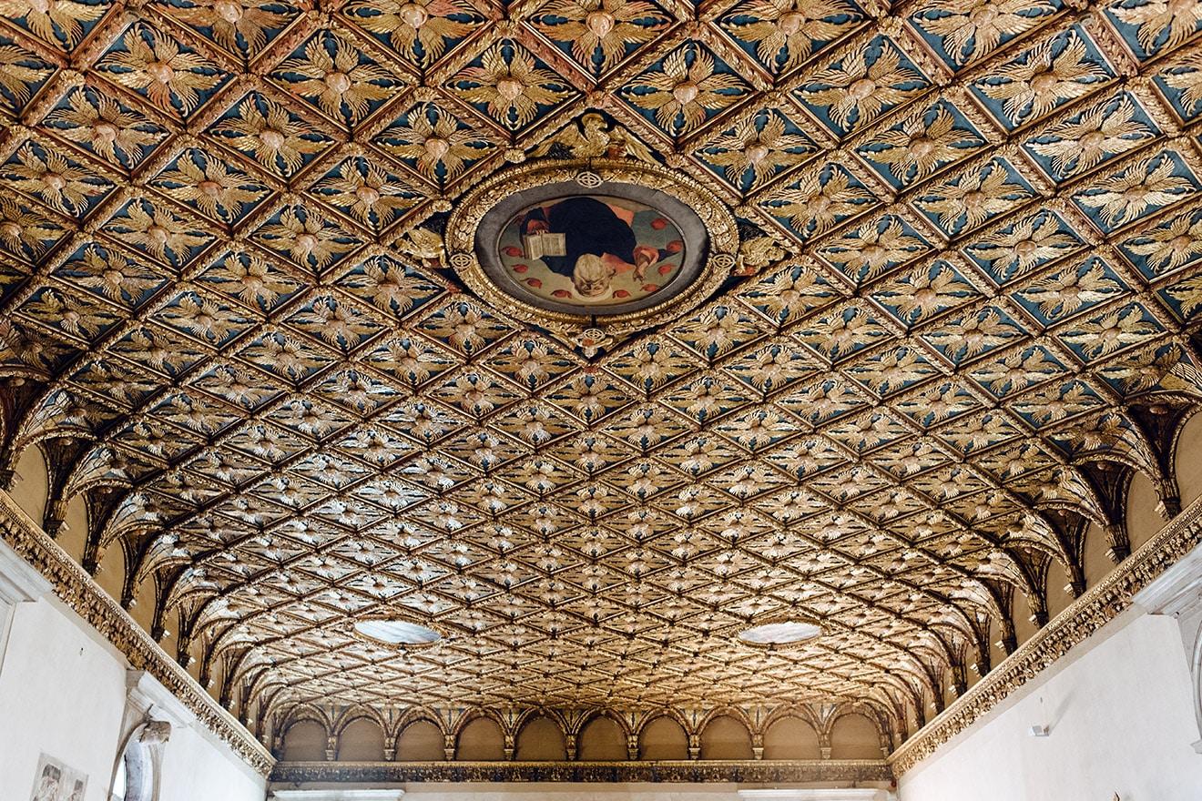 Venise, plafod d'une des salles des Galeries de l'Académie