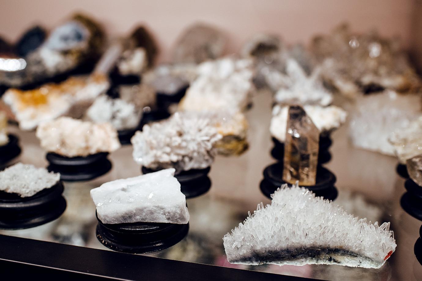 Musée d'histoire naturelle de Venise: collection de cristaux