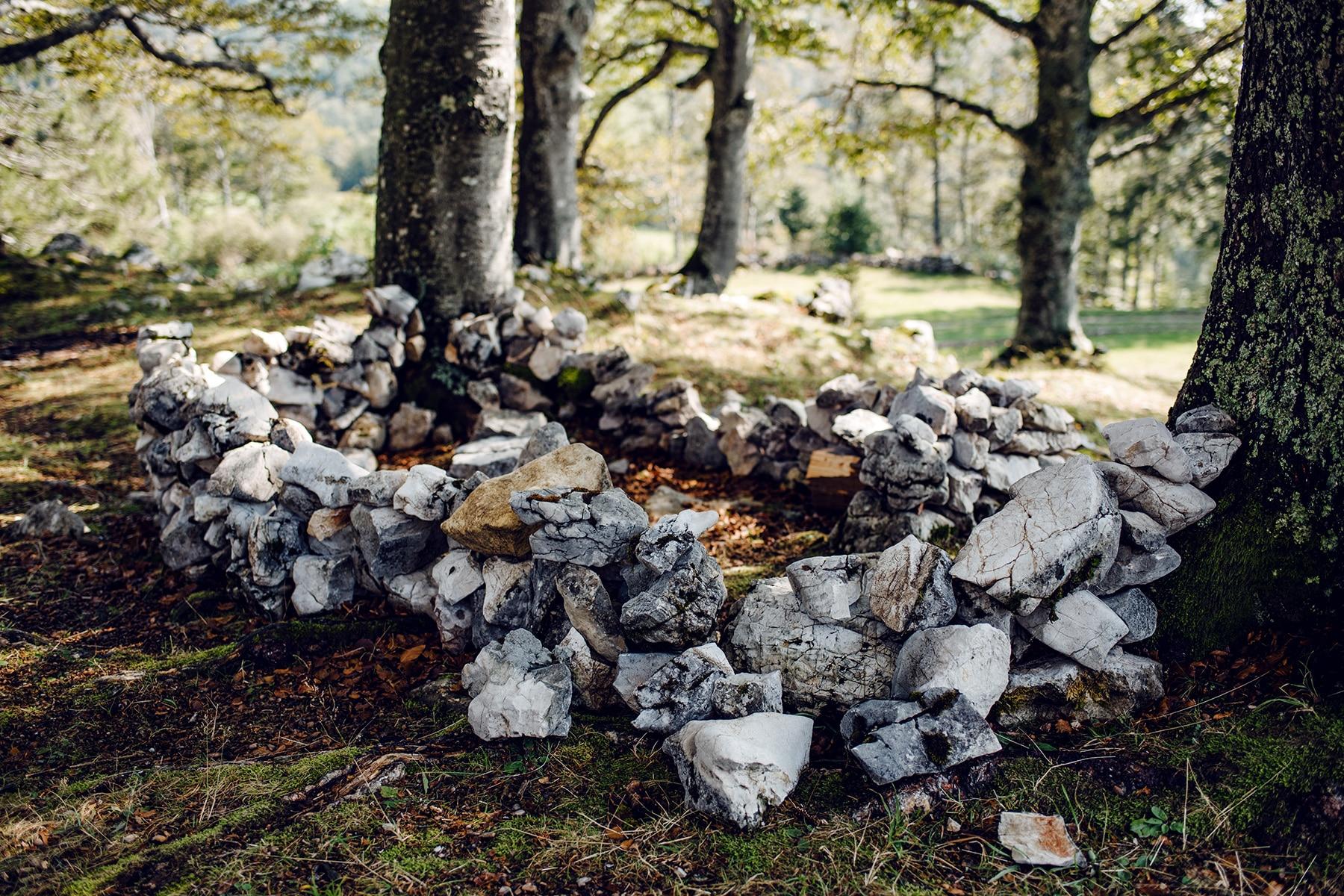 Balade sur le Grenchenberg –cercle de pierres dans la forêt