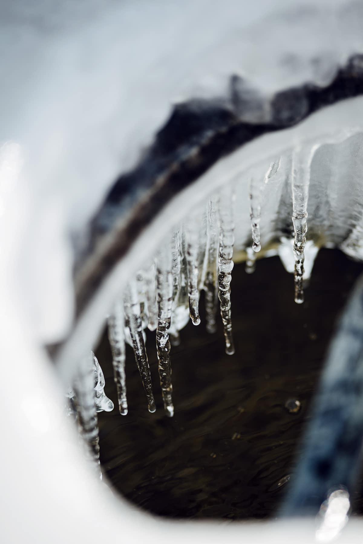 Fontaine gelée, février 2021