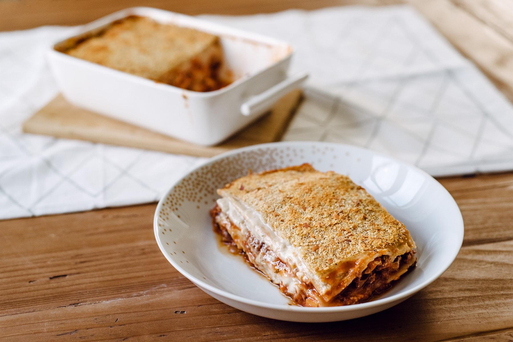 Lasagnes à la bolognaise végétalienne