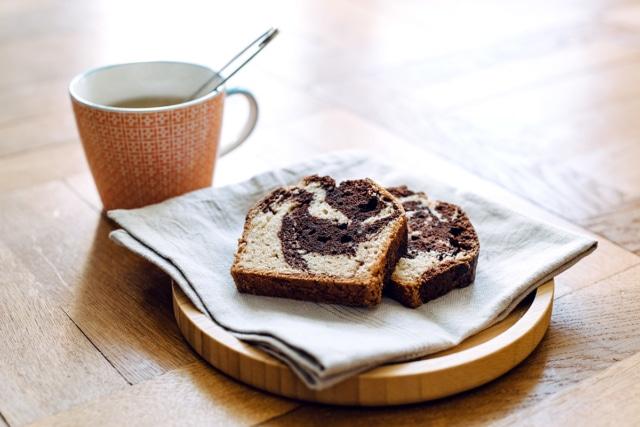 Cake marbré végétalien
