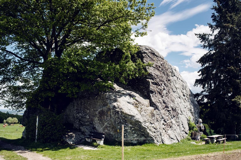 Bloc erratique à proximité du village de Steinhof, dans le canton de Soleure